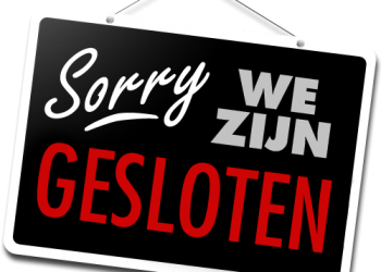 Maandagen GESLOTEN,  Mondays CLOSED